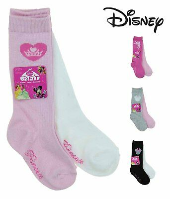 Disney Girls D-Fit Breathable Crew Socks 2 Pack-Minnie, Fairies, Princesses