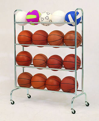 Basketball Mobile Storage Rack Portable & Convenient Stand For Sports Equipments