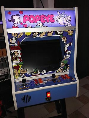 "Arcade Bartop 19"" LCD 4/3 Made in Italy 2 PLAYERS Japanese Controllers 75cm H"