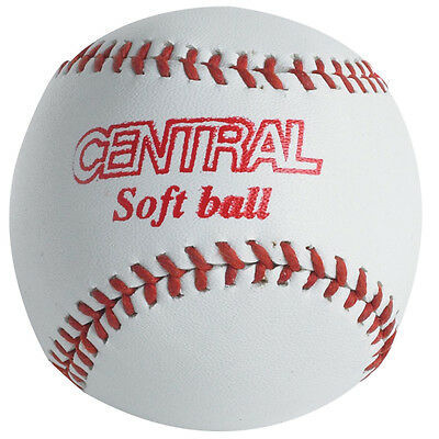 Central Safe N Soft Basball Training & Practice Official Size Rounder Ball White