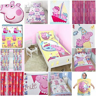 Peppa Pig Duvet Quilt Cover Bedding Sets OR Matching Curtains OR Accessories