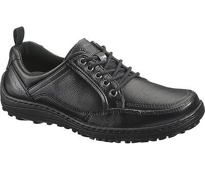 Men's Hush Puppies Belfast Oxford MT Black Leather Shoes UK 6 - 12 Dual Fitting