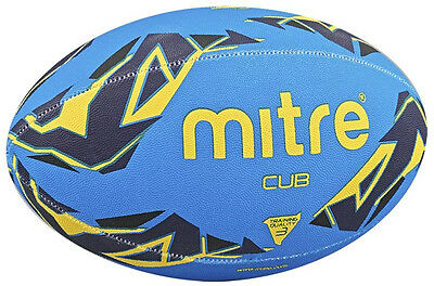 Mitre B7101 Cub Mini Rugby Sports Practice/training Ball Size 3 Blue/yellow
