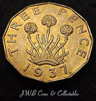 1937 George VI Brass Threepence Coin - Great Britain