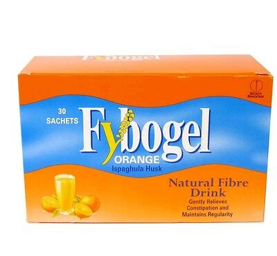 Fybogel Orange Natural Fibre Drink (2x30) Sachets x 60, EXPIRY DATE 01/20