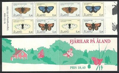 Aland Is. Butterflies 4v Booklet of 2 sets SG#81/84