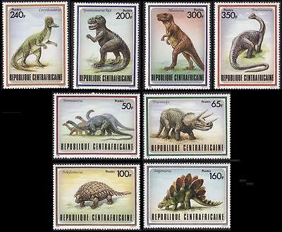 Central African Rep. Prehistoric Animals 8v SG#1291/98 MI#1312-19