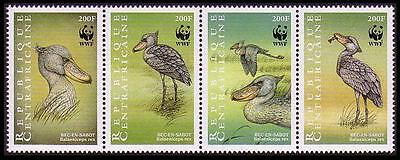 Central African Rep. WWF Shoebill Strip of 4v SC#1239 a-d MI#2211-14