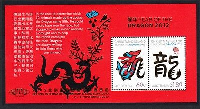 Christmas Is. Year of the Dragon MS Overprinted 'Beijing' SG#MS722