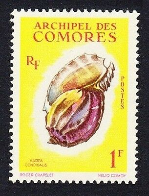Comoro Is. Sea Shell Harpa conoidalis 1v 1f SG#24 SC#49 MI#43