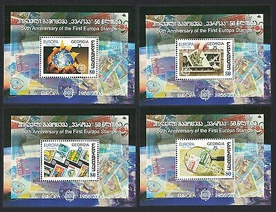 Georgia 50th Anniversary of Europa CEPT stamps 4 MSs SG#MS488