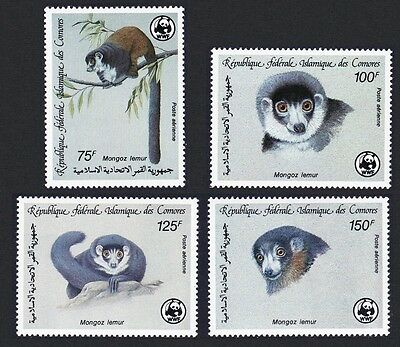 Comoro Is. WWF Mongoose Lemur 4v SG#613/16 SC#C171-C174 MI#792-95