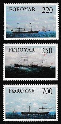 Faroe Is. Old Cargo Liners 3v SG#78/80 SC#90-92