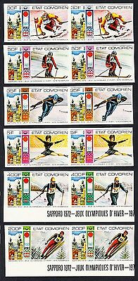 Comoro Is. Winter Olympic Games Innsbruck 6v imperf pairs MI#266B-71B