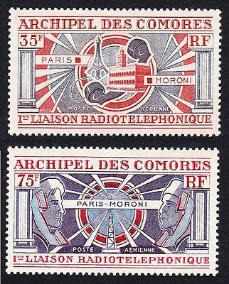 Comoro Is. Radio-Telephone Link Paris - Moroni 2v SG#120/21 SC#C42-C43 MI#139-40
