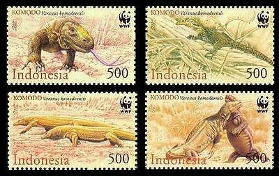 Indonesia WWF Komodo Dragon 4v SG#2620/23 SC#1911-14 MI#2005-08