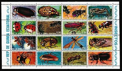 Eq. Guinea Insects Sheetlet of 16v CTO