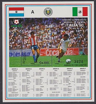 Paraguay World Cup Football Championship Italy MS SC#2311