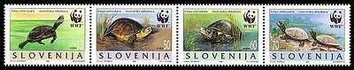 Slovenia WWF European Pond Tortoise Strip of 4v SG#279/82 SC#247 a-d MI#131-34