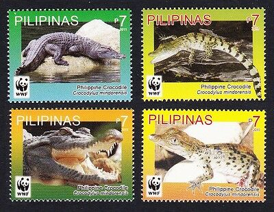 Philippines WWF Philippine Crocodile set of 4v MI#4500-03