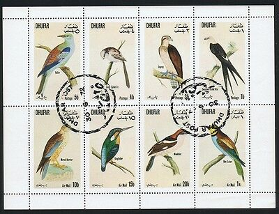 Oman Dhufar Birds Sheetlet of 8v CTO