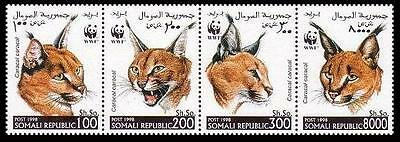Somalia WWF Caracal Strip of 4v
