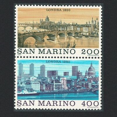 San Marino 'London 1980' International Stamp Exhibition 2v Vertical pair