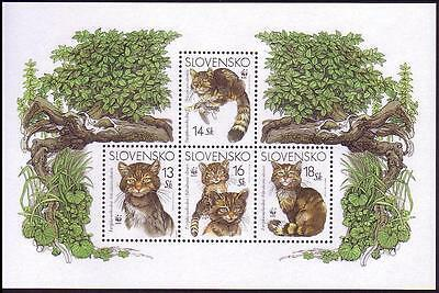 Slovakia WWF European Wild Cat Miniature Sheet SG#MS416 SC#434 MI#Block 22