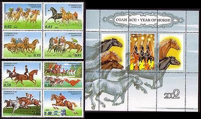 Tajikistan Year of the Horse 8v+MS SG#205/MS213