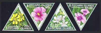 Pitcairn Flowers 4v Triangle stamps SG#535/38 SC#488-91