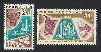 Mali Cattle Chicken Birds Zoological Research Centre Sobuta 2v SG#58/59