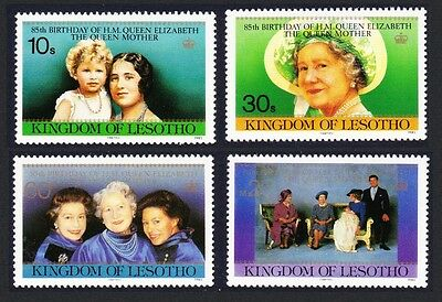 Lesotho Life and Times of Queen Elizabeth the Queen Mother 4v SG#635/38