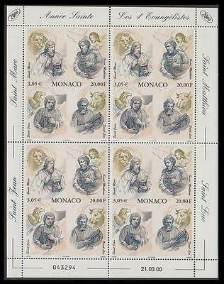 Monaco The Four Evangelists Sheetlet of 4v SG#2457 MI#2503