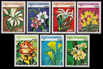 Kampuchea Flowers 7v issue 1984 MI#591-97