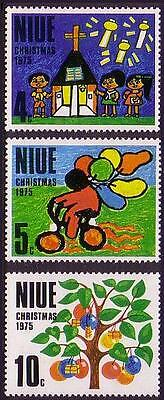 Niue Christmas 3v issue 1975 SG#193/95