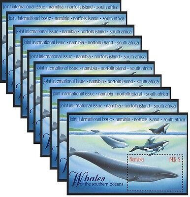 Namibia WWF-related Whales MS WHOLESALE Pack of 10 SG#MS819 SC#919