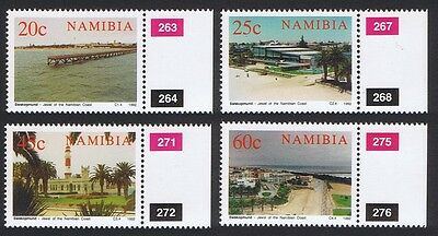 Namibia Centenary of Swakopmund 4v with margins with Control Numbers SG#592/95