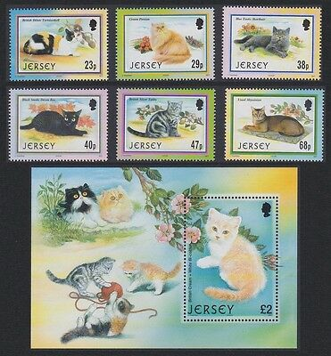 Jersey Cats 6v+MS SG#1060/MS1066