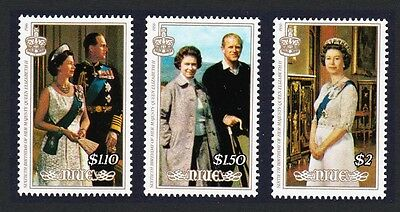 Niue Queen Elizabeth II 60th Birthday 3v SG#615/17 SC#510-512