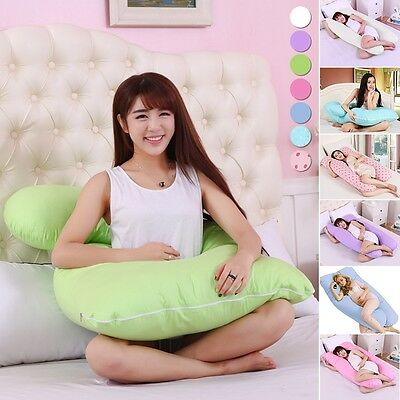 9ft Comfort U Pillow Case For Back Body Support Nursing Maternity Pregnancy New