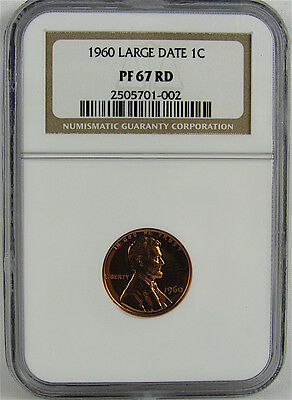 1960 Large Date Proof Lincoln Cent Ngc Pf67Rd