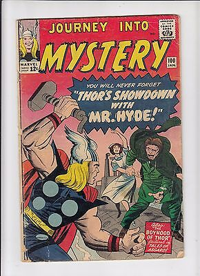 Journey into Mystery 100 Mr. Hyde!  Good condition.  Thor!