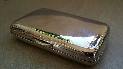 Sterling Silver Cigarette Case - Hamilton & Co, Calcutta - Indian Raj Period