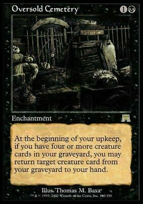 Oversold Cemetery ~ Onslaught ~ Excellent+ ~ Magic The Gathering