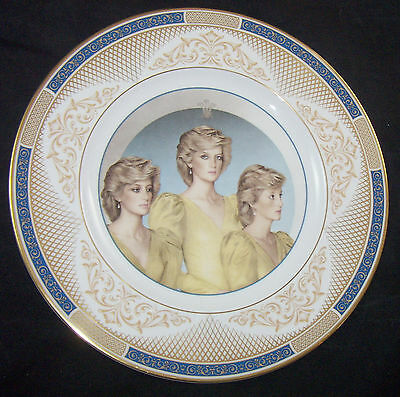 Diana HRH Princess of Wales Royal Doulton Plate Painting John Merton Ltd Ed 1987