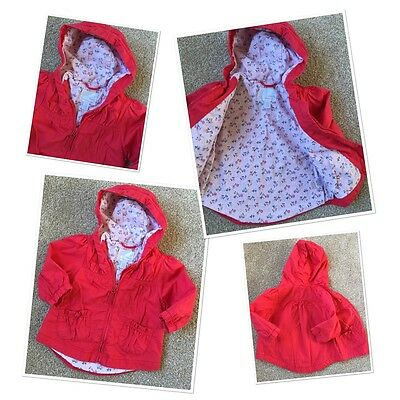 Next Baby Girls Spring Summer Hooded Jacket 9-12 Months