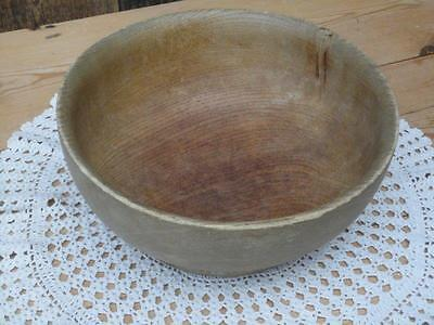 Vintage Turned Wooden Bowl Lovely Grain 22cm Diameter Kitchenalia Home Decor P6