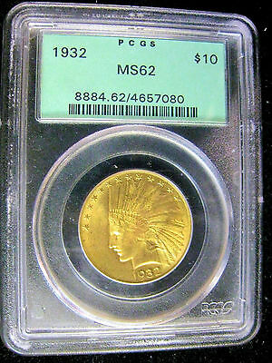 $10 1932 Gold Indian Eagle PCGS MS62 (A9)