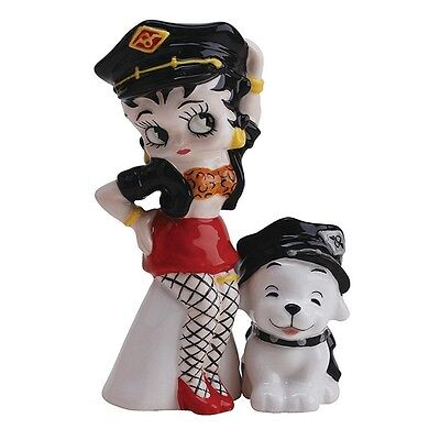 NEW Biker Betty Boop With Pudgy Salt and Pepper Shaker
