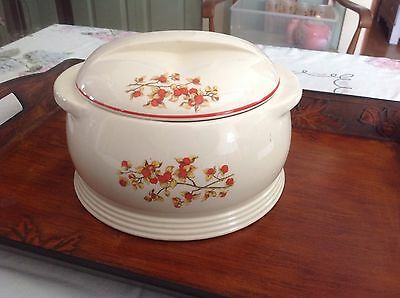Vintage Universal Potteries Covered Casserole Bitter Sweet Round